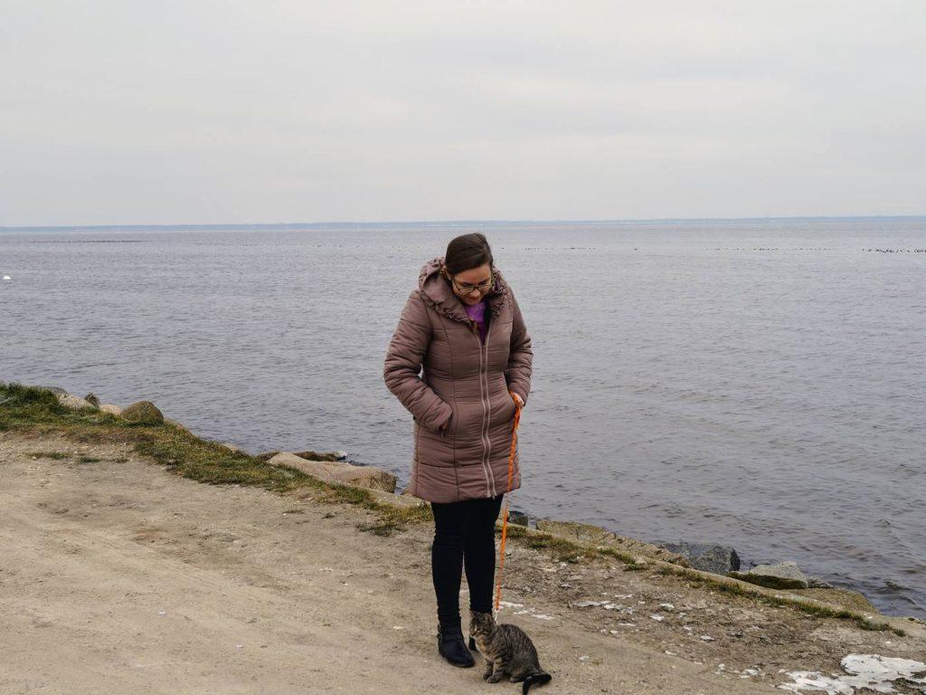 Z kotem nad morze