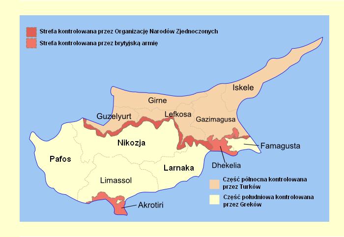 mapa podziału cypru