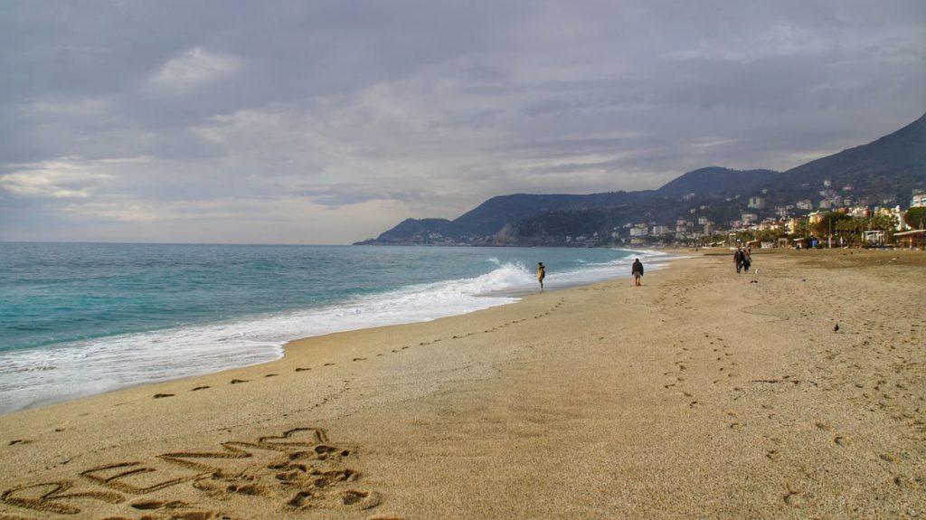 Plaże Alanyi: plaża Kleopatry
