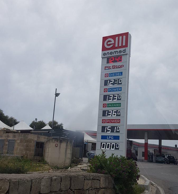 cena paliwa na Malcie
