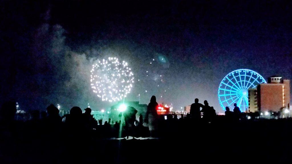 fajerwerki z okazji dnia niepodległości USA