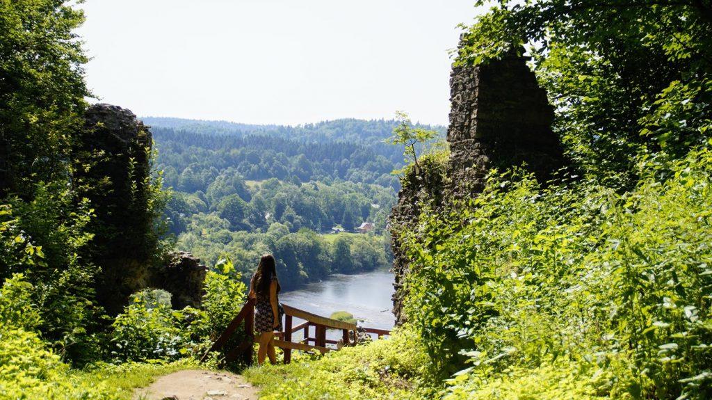 bieszczady punkt widokowy zamek Sobień - atrakcje Podkarpacia