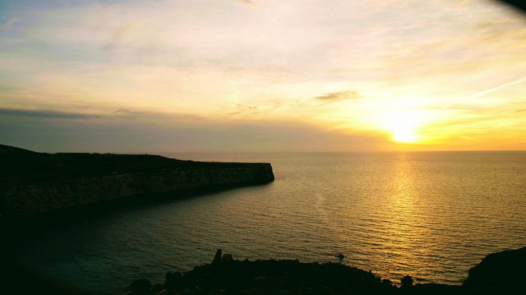 zachód słońca na malcie