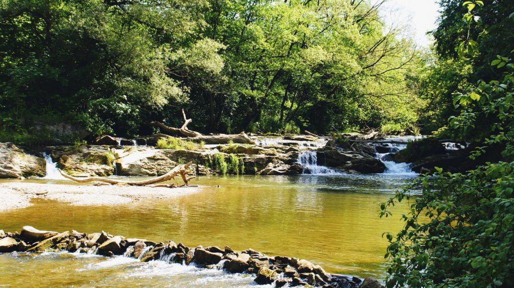 atrakcje podkarpacia - wodospad na Olszance