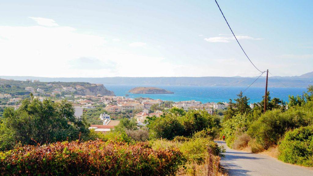 Almyrdia Kreta krajobraz na zatokę Souda