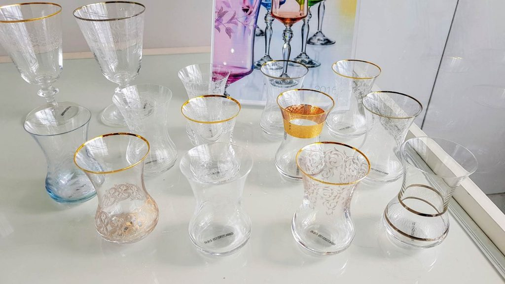 crystalex szkło, szklaneczki do herbaty po turecku