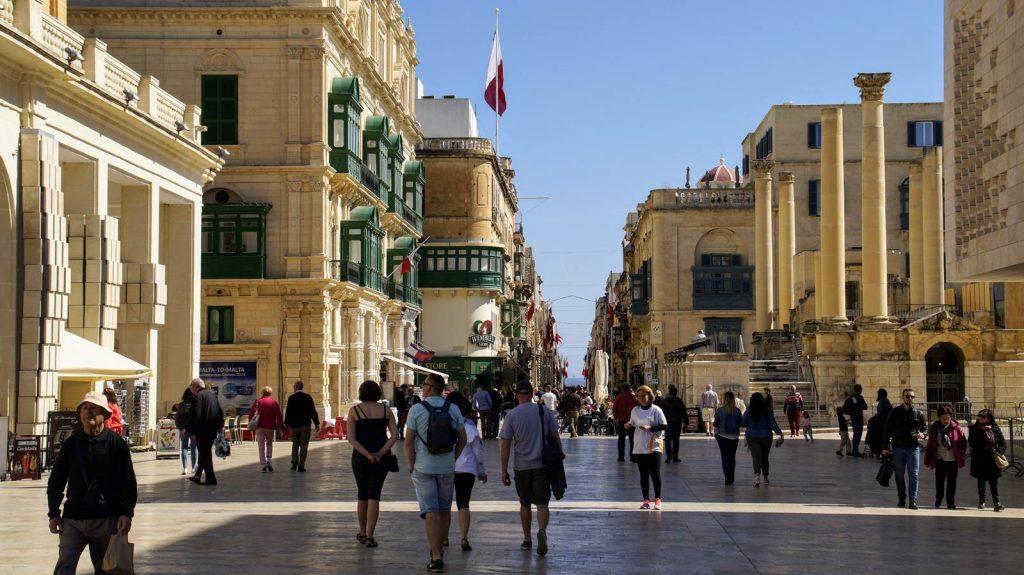 Valetta marzec turyści