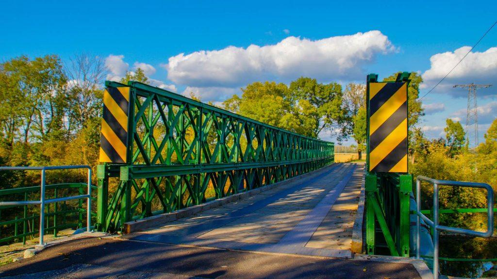 Most nad kanałem przy Prędocinie