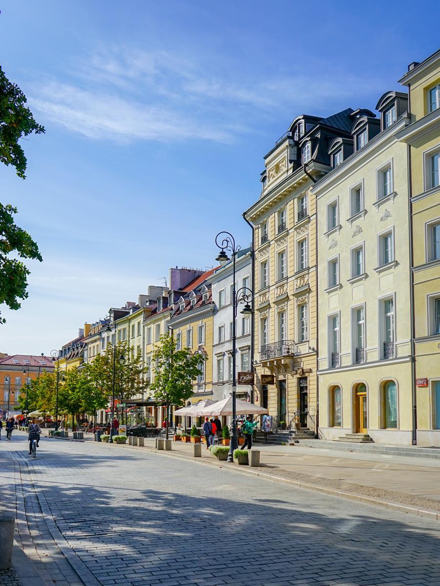 Krakowskie Przedmieście latem