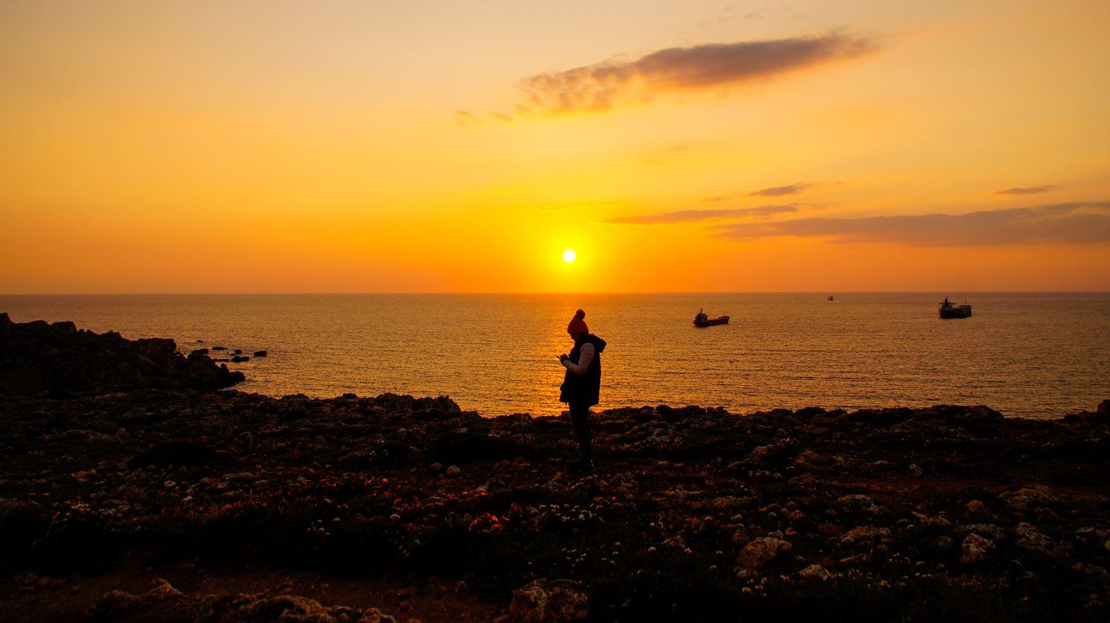 Zachód słońca - Malta