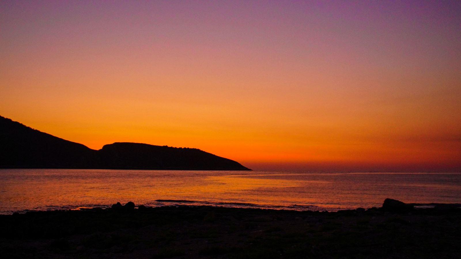 Zachód słońca - Grecja, Peloponez