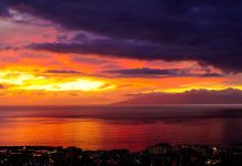 zachód słońca- Teneryfa