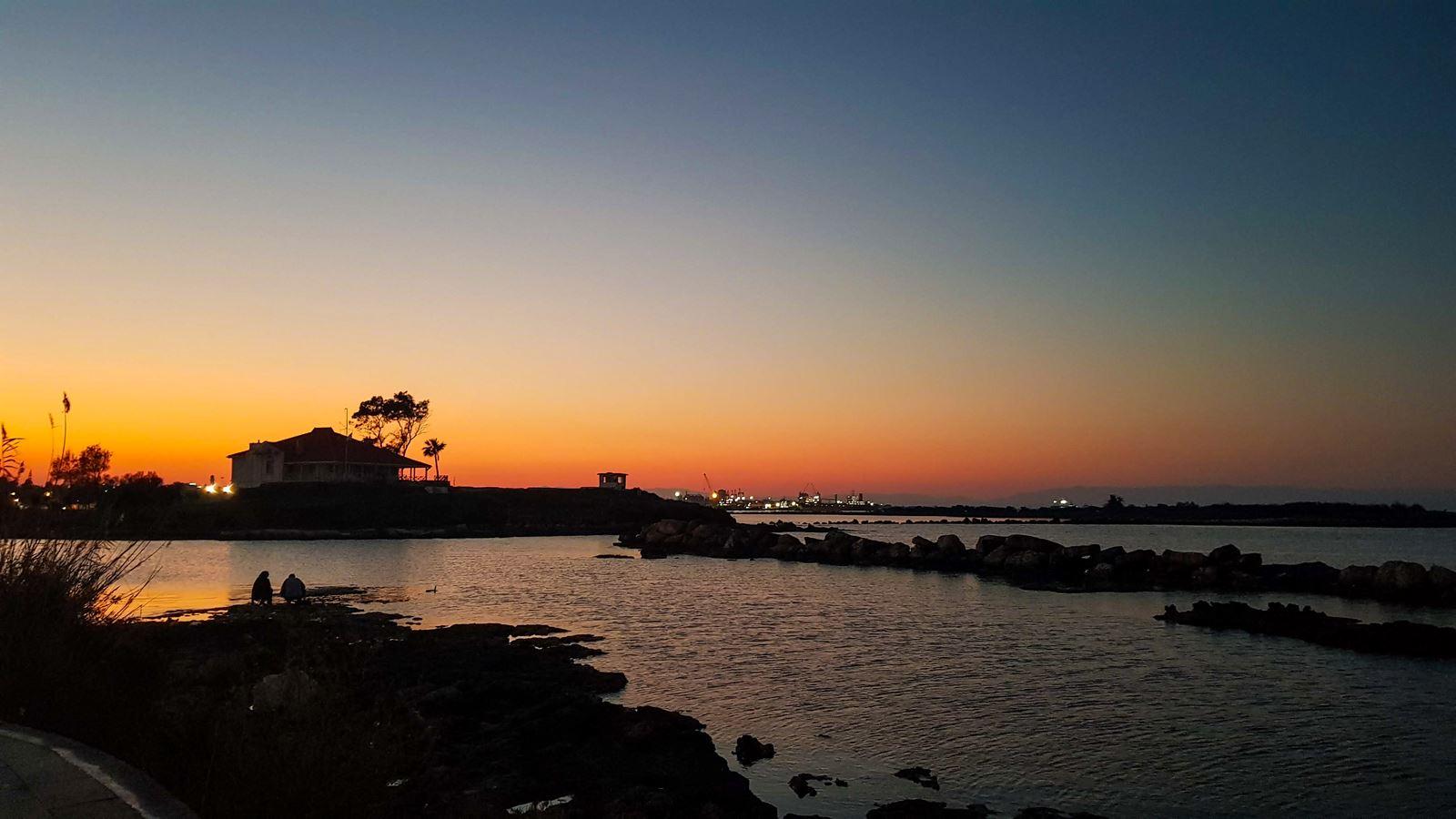 Zachód słońca - Cypr Północny