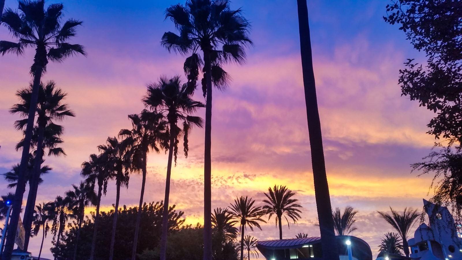 zachód słońca - USA, Nevada