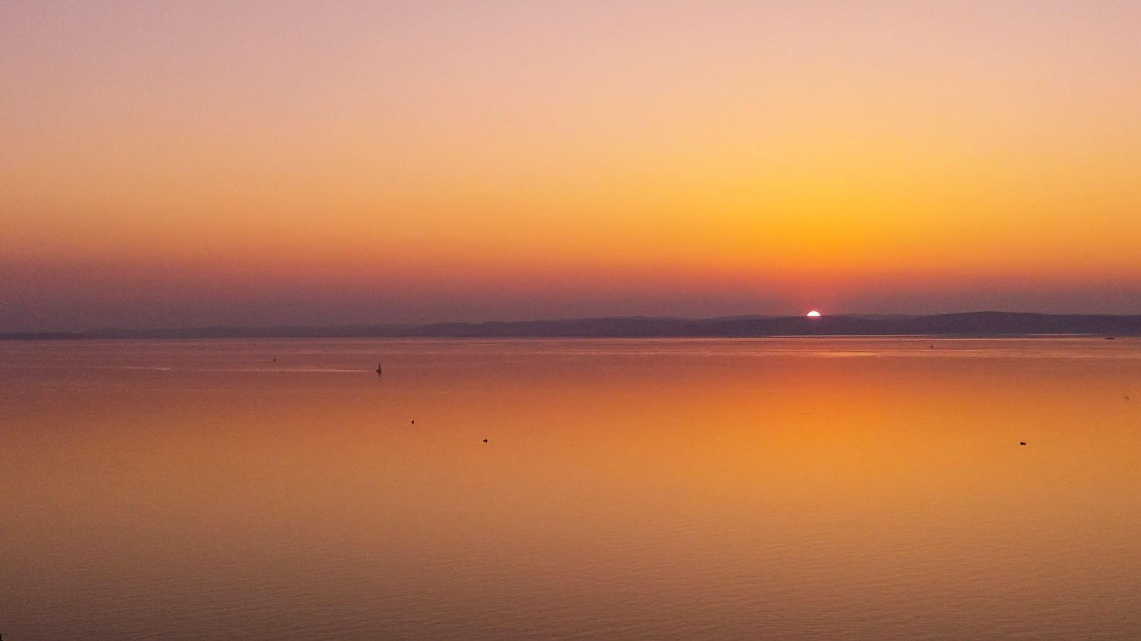 Zachód słońca - Balaton, Węgry